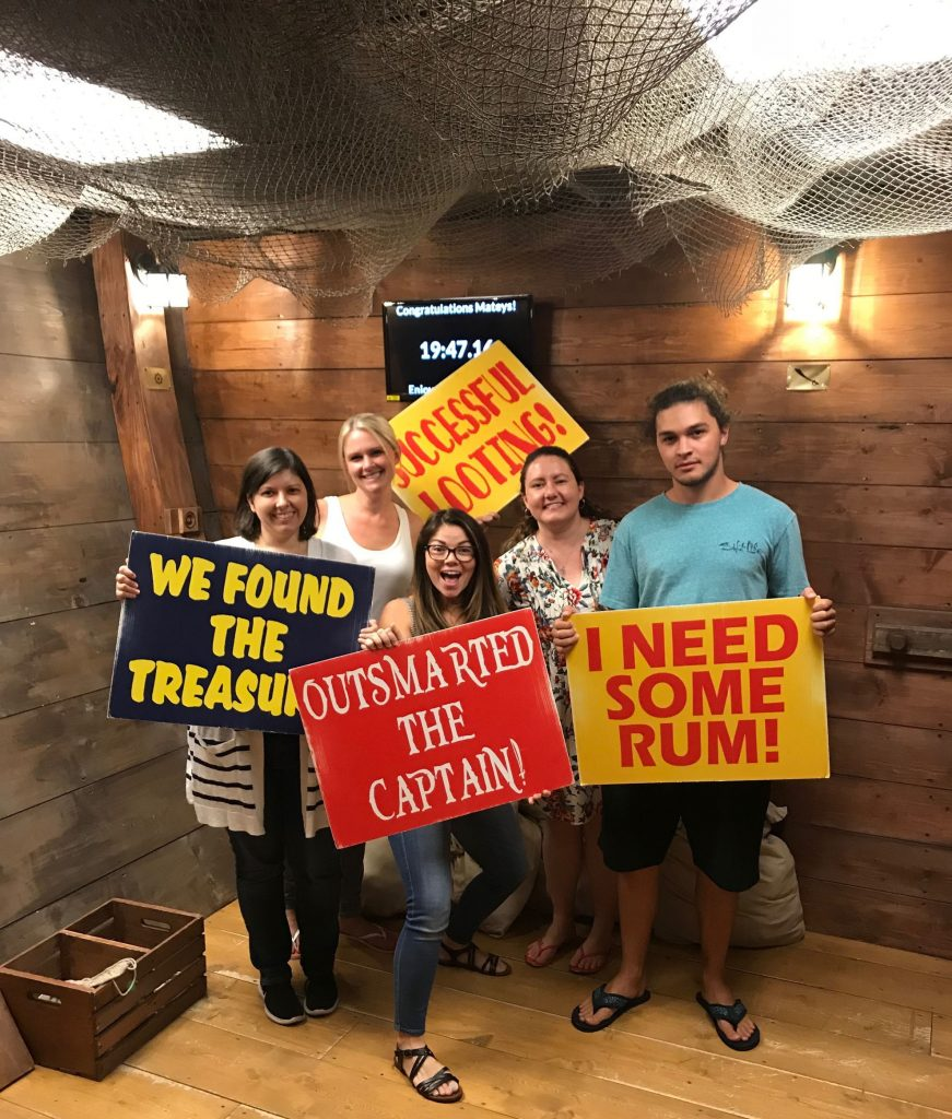 employees having fun at Escape Room Adventures
