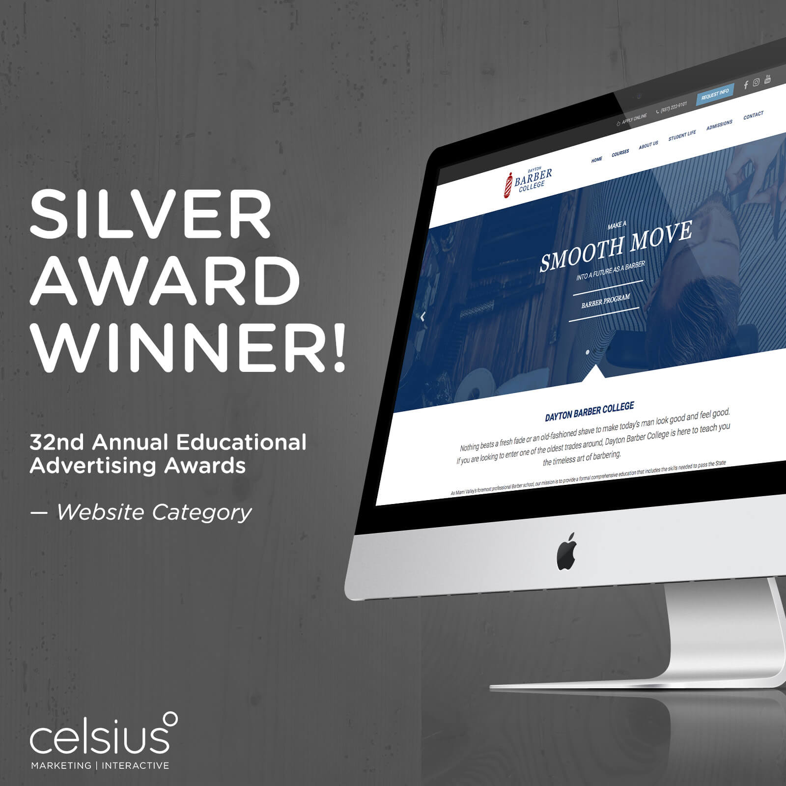 award won by Celsius Marketing for Advertising
