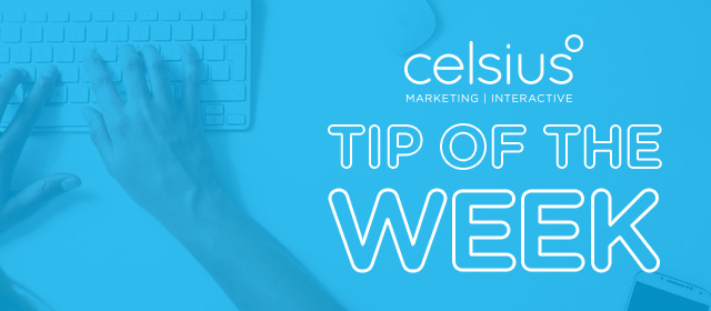 WEEKLY TIP: Have a Clean, Professional Web Design