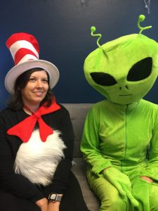 celsius employees dressed in Halloween costumes